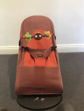 Baby Bjorn Bouncer - red with toy bar, used, good condition