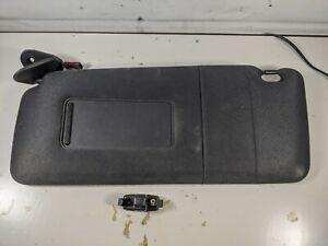 2000-2006 BMW X5 E53 Driver & Passenger Sun Visor w/ Mirror Cloth Black Clips
