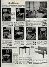 1951 PAPER AD Royalchrome Mid Century Modern Dinning Rood Sets Square Tube Chair