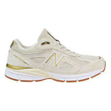 New Balance 990 Masculino Sapatos Made In Usa Creme/Metálico Ouro M990-AG4