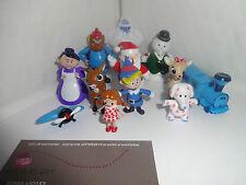 Rudolph The Red-nosed Reindeer Cake Toppers 12 Figuras De Plástico Y 1 Gratis De Regalo