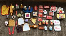 21 McDonald's Pretend  Play ~Cartons, Drinks, Food + 28 Other Play Food