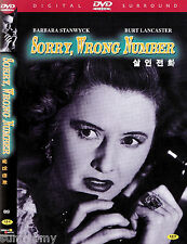 Sorry Wrong Number - Burt Lancaster Barbara Stanwyck (NEW) Classic Thriller DVD