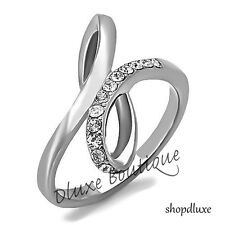 Women's Infinity Knot AAA CZ Stainless Steel Love Promise Fashion Ring Size 5-10