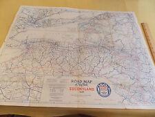1926 22 x 28 Socony Gasoline Map New York Sonoco EXXON Brooklyn VINTAGE!!!!!