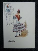 SPAIN MK 1970 COSTUMES SPANIEN TRACHTEN MAXIMUMKARTE MAXIMUM CARD MC CM a8678