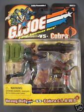 2001 GI Joe Heavy Duty vs Cobra Claws