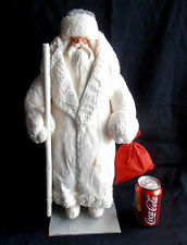 1966 USSR Russian LARGE Size DED MOROZ Santa Claus COTTON Christmas Figure
