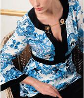 87269540ce taglie forti donna top stile Casual Chiffon larga manica lunga ...