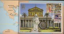 CARNET  VATICAN 2008  BU 2 EURO + TIMBRES OBLITERES 1er JOUR