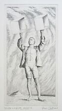 """PAUL CADMUS Signed 1941 Original Etching - """"Youth with Kite"""""""