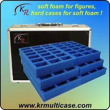 KR caso, Wargaming Estuche y bandejas para 108 bases voluminosos figuras 25 o 30 mm (E-198)