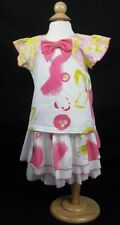 NWT Baby Nay Watercolor Sketch Summer Layered Skirt + Tee Outfit 3T $66 Retail