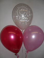 30 Clear Retirement / Pale & Fuchsia Pink Helium/Air Balloons Party Decorations