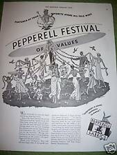 1937 Pepperell Fabrics King Cotton Festival Ad