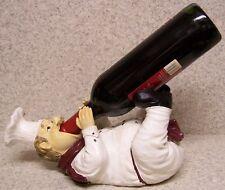 Wine Bottle Holder Seasonal Thanksgiving Sculpture Country Chef Chardonnay  NEW