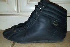 vth COTE BASQUE Black nylon Short Lace up 80s retro punk Granny Ankle Boots 7.5