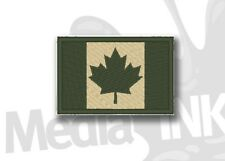 Canadian Flag Military Moral Armband Patch Hook & Loop - SHIPS FROM CANADA !