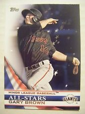 GARY BROWN SP GIANTS 2012 Topps Pro Debut All-Star baseball card #AS-GB ANGELS