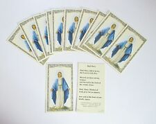Lot of 25 Holy Cards, Prayer Cards of Mary, Hail Mary on the Back of the Cards
