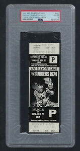 PSA 4 SEA OF HANDS VINTAGE 1974 NFL AFC DOLPHINS @ OAKLAND RAIDERS FULL TICKET