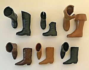 Ken Doll Boot Lot Cowboy Boots Work Boots Prince Boots for Ken and Guy Friends