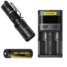 Nitecore MT10A Tactical Flashlight -XM-L2 U2 w/NL14500A Battery & SC2 Charger