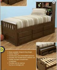 single bed with head storage with trundle and drawers NEW design Kids