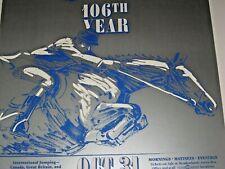 """1989 106th National Horse Show Poster Sam Savitt Art Horse Jumping 17"""" x 28"""""""