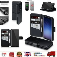 Samsung S9 Case Galaxy Genuine Leather Phone Cases Folio Wallet Cover Flip