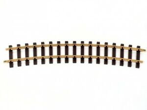 Train Line45 8 Brass Tracks, Bent, Radius R = 120cm, 22,5°