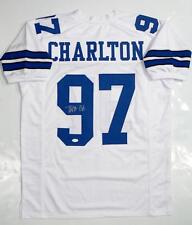 Taco Charlton Autographed White Pro Style Jersey- JSA Witnessed Auth