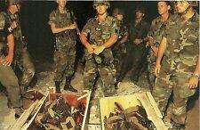 U.S. Military Forces Invading Grenada 1983 Postcard