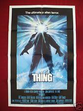 THE THING * 1982 ORIGINAL MOVIE POSTER 1SH JOHN CARPENTER AUTOGRAPHED HALLOWEEN