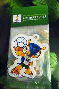 World Cup Brazil 2014 Fuleco Mascot Air Freshener (Single)