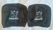 2x PEUGEOT black headrest seat cushion protective cover