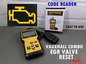VAUXHALL COMBO VAN EGR VALVE RESET DASHBOARD LIGHT EML ENGINE CODE READER