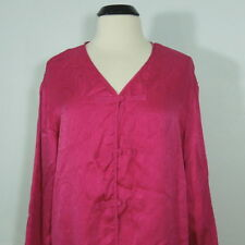 VICTORIA'S SECRET Paisley Print Silk Pink Kimono size L