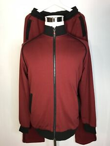 Castello d'Oro Tracksuit Maroon Black Metal Badges All Cotton 54/2XL Classic Fit