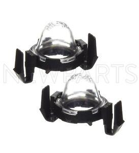 For Toyota 4Runner Pickup Tacoma Set of 2 License Plate Lamp Lenses & Bodies
