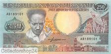 Suriname 250 Gulden 1988 Unc pn 134