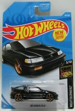 2019 HotwWheels Nightburnerz 3/10 Black '88 Honda CR-X 49/250 Mattel 3+