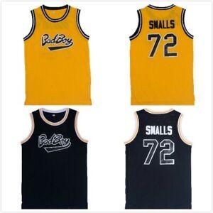 BadBoy USA Notorious B.I.G. Biggie Smalls 72# Basketball Jerseys Stitched Yellow