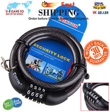 Combination Number Code Bike Bicycle Cycle Lock 6mm by 550mm Steel Cable Chain