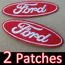 2 Patches x FORD Embroidered Advertising Iron on Patch Red Gt Racing Automobile