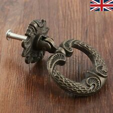 UK STOCK Single-hole Door Handles Knobs Dresser Cabinet Drawer Pull Drop Ring