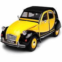CITROEN 2CV 1976 2 CV 1:24 Scale Diecast Model Toy Car Miniature Yellow Vintage