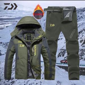 Men Suit for Fishing Jacket Waterproof Windproof Warm Thick Pants Fishing Shirt