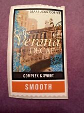 Rare HTF Starbucks Coffee Caffe Verona Decaf Stickers Stamps