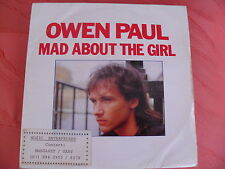 OWEN PAUL - Mad About the Girl/ Going Solo - NBR OWP 1